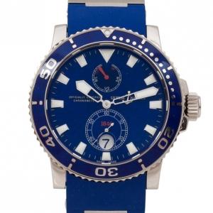Ulysse Nardin Sport Power Reserve 18K White Gold Rubber Mens Wristwatch 44 MM