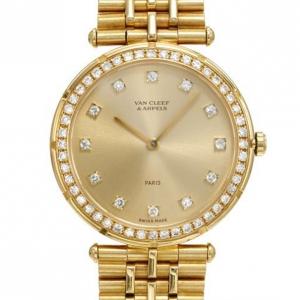 Van Cleef & Arpels Diamond 18K Gold Watch