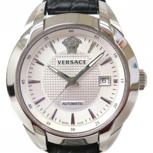 Versace Charcter SS Leather White Mens Wristwatch