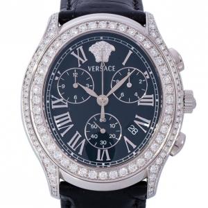 Versace Black Stainless Steel OLC99 Men's Wristwatch 40MM