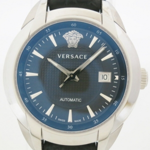 Versace Character SS Leather Mens Wristwatch 42 MM