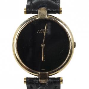 Cartier Gold Plated Unisex Wristwatch 30 MM