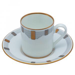 Dior White Porcelain Cup & Saucer Set