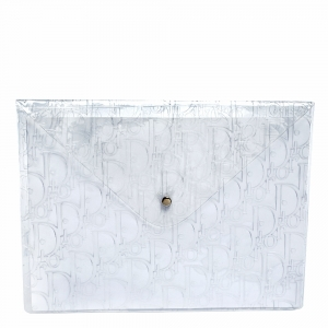 Dior Clear Monogram Embossed File Case