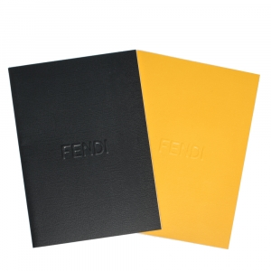 Fendi Black & Yellow Mini Notebook Set