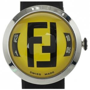 Fendi 8010 G SS Rubber Yellow Unisex Wristwatch 38 MM