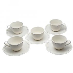Givenchy White Porcelain Coffee Cup & Saucer Set