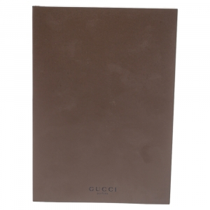 Gucci Dark Brown Notebook and Pencil