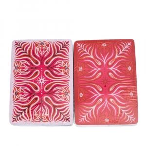 بطاقات لعب هيرمس وردية وحمراء