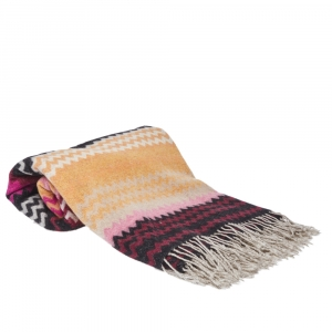 Missoni Home Multicolor Wool Blend Humbert Chevron Throw