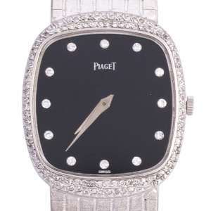 Piaget 18 K White Gold Vintage Unisex Wristwatch 28 MM
