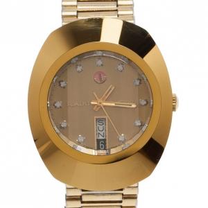 Rado Gold Stainless Steel DiaStar Unisex Wristwatch 35MM