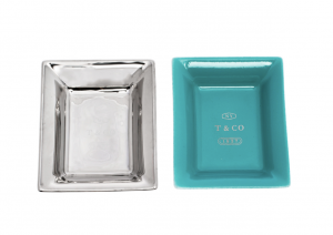 Tiffany & Co. Metallic Porcelain Vide Poche Tray Set