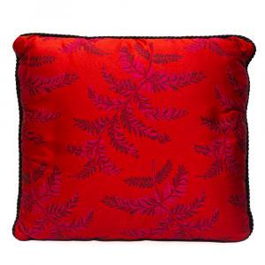 Versace Medusa Red Cotton Cushion 45 CM