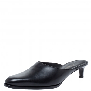 3.1 Phillip Lim Black Leather Mule Sandals Size 35 - used
