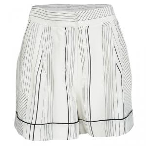 3.1 Phillip Lim Monochrome Pin Striped Silk Pajama Shorts M - used