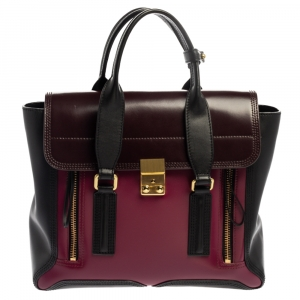 3.1 Phillip Lim Tricolor Leather Medium Pashli Satchel