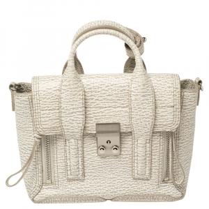 3.1 Phillip Lim Antique White Leather Mini Pashli Satchel