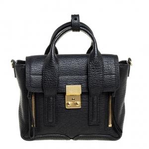 3.1 Phillip Lim Black Leather Mini Pashli Satchel