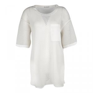 Acne Studios Off White Oversized Avre Mesh Top S