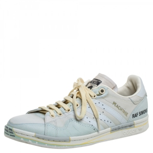 Adidas By Raf Simons Multicolor Leather Low Top Sneakers Size 41.5 - used