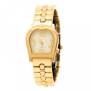 Aigner Yellow Gold Plated Stainless Steel Ravenna A02200 Women's Wristwatch 24 mm
