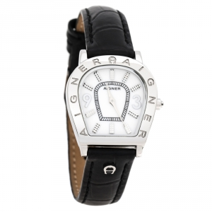 Aigner Mother Of Pearl Stainless Steel Leather Amalfi A32200 Women's Wristwatch 27 mm