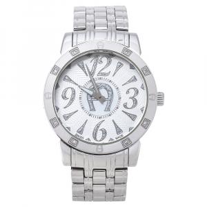 Aigner White Stainless Steel Diamond Cortina A26300 Women's Wristwatch 36 mm