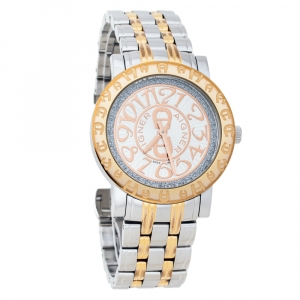 Aigner Silver Two-Tone Stainless Steel Cortina A26300 Women's Wristwatch 35 mm