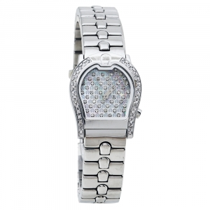 Aigner Mother of Pearl Stainless Steel Diamond Ravenna A02200 Women's Wristwatch 24 mm