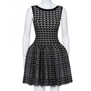 Alaia Monochrome Chunky Knit Sleeveless Skater Dress M - used