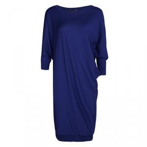 Alexander McQueen Blue Wool Dolman Sleeve Oversized Tunic L