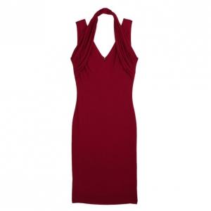 Alexander McQueen Halter Neck Crepe Jersey Dress M