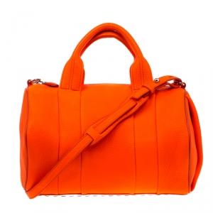 Alexander Wang Orange Leather Top Handle Bag