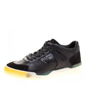 Alexander McQueen for Puma Black Leather Move Femme Lace Up Sneakers Size 38
