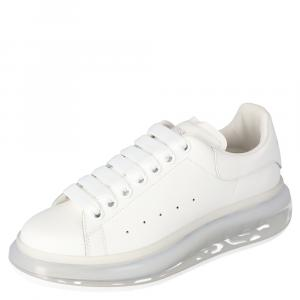 Alexander McQueen White Oversized Clear Sole Sneakers Size EU 37