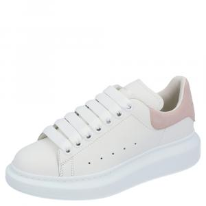 Alexander McQueen White/Pink Oversized Sneakers Size EU 37