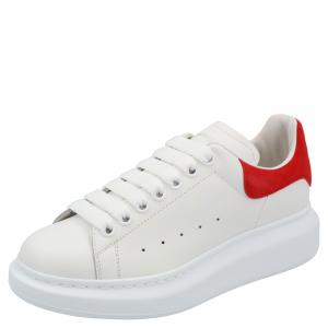 Alexander McQueen White Leather Oversized Sneakers Size EU 38