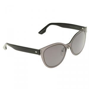 McQ By Alexander McQueen Grey/Black MQ0023S Cat Eye Sunglasses