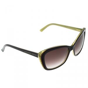 Alexander McQueen Purple/Green AMQ 4178/S Cat Eye Sunglasses
