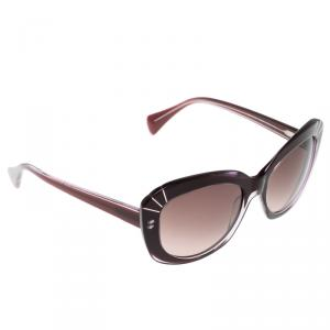Alexander McQueen Purple AMQ 4214/S Cat Eye Sunglasses