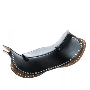 Alexander McQueen Black Leather Eyelet Corset Belt 85