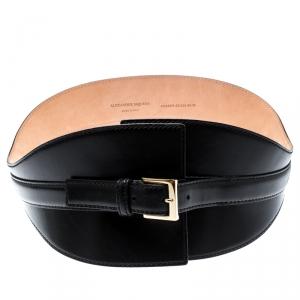 Alexander McQueen Black Leather Corset Belt Size 80 CM