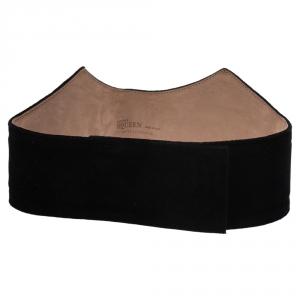 Alexander McQueen Black Velvet Waist Belt 70CM