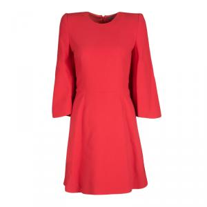 Alexander McQueen Red Knit Kimono Sleeve Dress S