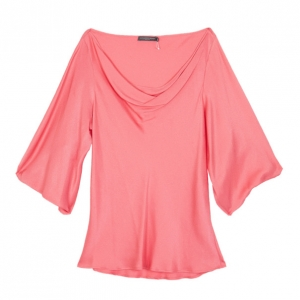 Alexander McQueen Draped Neck Silk Top S