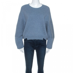 Stella McCartney Pale Blue Wool Cut Out Detail Sweater M - used