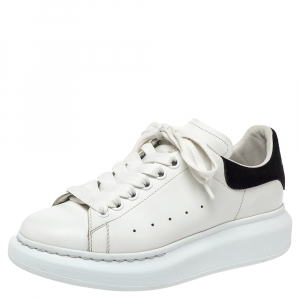 Alexander McQueen White Leather Oversized Low Top Sneakers Size 37