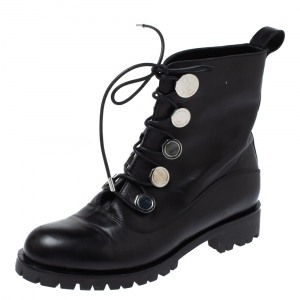 Alexander McQueen Black Leather Boots Size 39 - used
