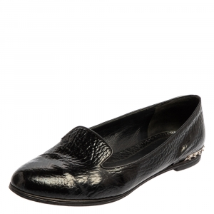 Alexander McQueen Black Leather Smoking Slippers Size 41 - used